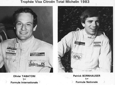 1983 Citroen Competition Team Tabatoni Bornhauser ORIGINAL Factory Photo oub9748