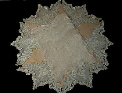 MARY CARD WISTARIA Set No 65 Small Tablecloth+5 Placemats Crochet Lace Vintage