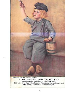 DUTCH BOY PAINT ADVERTISING POSTCARD 1908 mailed