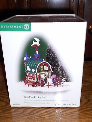 Dept 56 North Pole Village North Pole Petting Zoo Nib