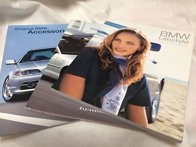 BMW Accessories Color Brochure Catalog Fashion USA Market 2001 Lot Of 3
