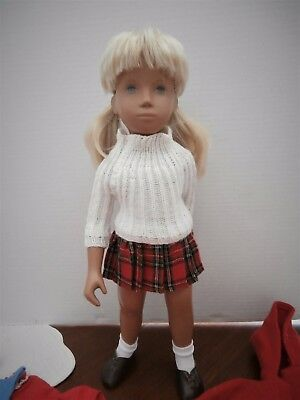1969-70 Sasha Doll Kilt w/Duffle Coat & Aftermarket Wardrobe Full Center Part