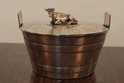 Antique cow butter holder