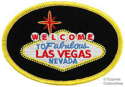 Welcome To Fabulous Las Vegas Sign - Embroidered Patch Iron-On Gambling Nevada