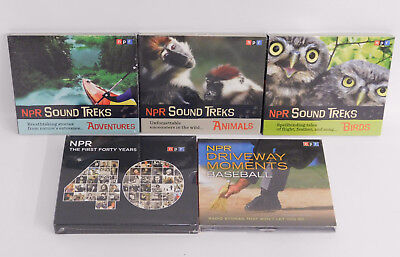 Lot of 5 NPR CDs: 3 Sound Treks, The First 40 Years & Driveway Moments Baseball