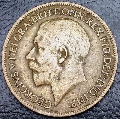 1916 UK Great Britain Halfpenny Half Penny Coin - FREE COMBINED S/H