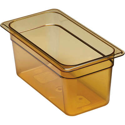 "Cambro 1/3 Gn Steam Table Pans, High Heat Plastic, 6"" Deep, 6Pk Amber 36Hp-150"