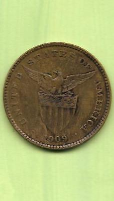 SCARCE DATE 1909-S Centavo in Bronze – United States Administration