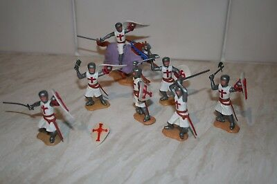 Timpo Crusader Knights Complete And Original.