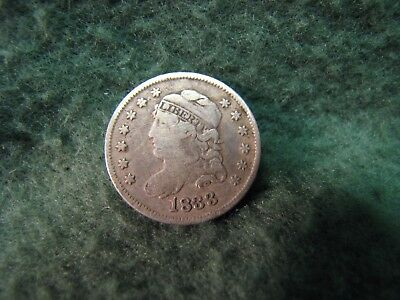1833 United States Capped Bust Half Dime  Date is Clear 90% Silver  5 Cents Coin