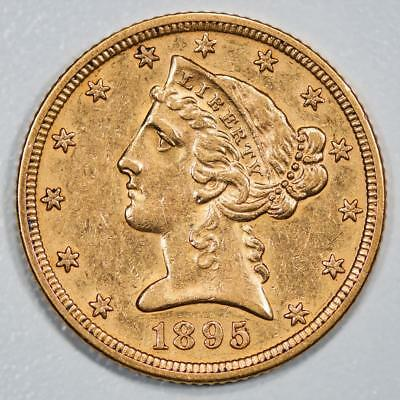 1895 Liberty Head $5 Gold Half Eagle Item#J1995