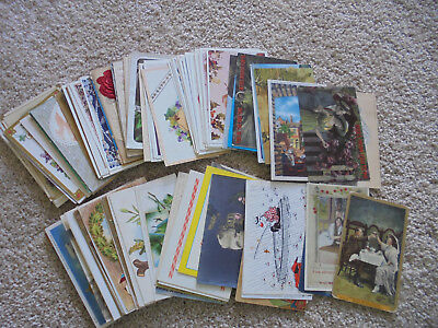 lot of 100 antique postcards  early 1900's Interesting assortment old postcards
