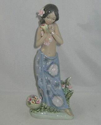 """Lladro ASIAN Figurine 1480 """"AROMA OF THE ISLANDS"""" Issued 1985 / NO Box"""