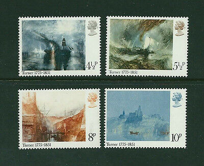 GB QEII 1975 - Set of 4 - PAINTINGS BY TURNER - SG 971 to 974 - Superb - MNH