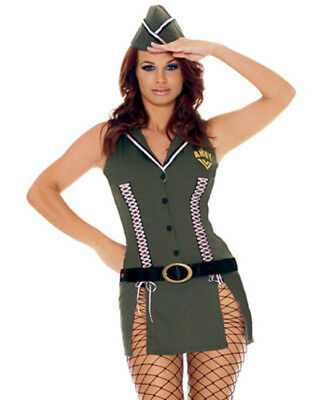 7e2e08925e4 ARMY BRAT SEXY Adult Womens Costume Military Camo Halloween Outfit ...