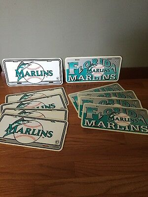 Florida Marlins Plastic License Plate Novelty LOT OF 10 PC 2 Different Styles