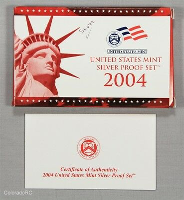 2004 United States Mint Silver Proof Set in Original Mint Packaging w/ COA