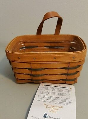 Longaberger 1994 Heartland Small KEY BASKET #10782 With Leather Strap Hanging