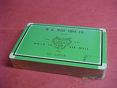 M.K. WEIL SHOE CO., St. Louis Playing Cards Sealed Deck-Quality Shoes Since 1932