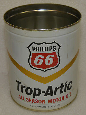 Phillips 66 Trop-Artic All Season One Gallon Oil Can Vintage Old 1970's