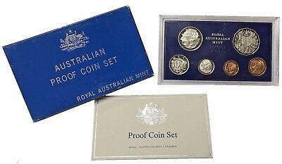1981 Australia 6-Coin Proof Set Royal Australian Mint In Box + Coa