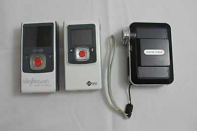 Lot of 3 Digital Video Camera Tested in Working Condition (690)