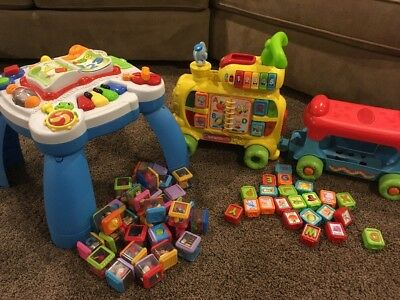 Vtech Alphabet Train Leap Frog Activity Table Toddler Learning Toy Lot