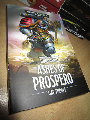 SIGNED Gav Thorpe ASHES OF PROSPERO Mint Warhammer 40K Space Marine Conquests