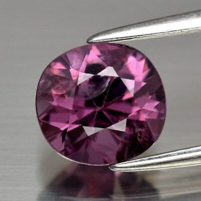 VS Clean! 1.70ct 7.4x7mm Oval Natural Pinkish Purple Spinel Unheated, M'GOK