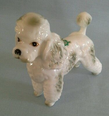 Vintage Porcelain Ceramic Pottery Pretty Bone China Poodle Dog Figurine