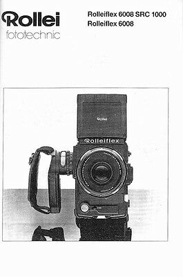 Rollei Rolleiflex 6008, 6008 SRC1000 Instruction Manual with 6003 supplement