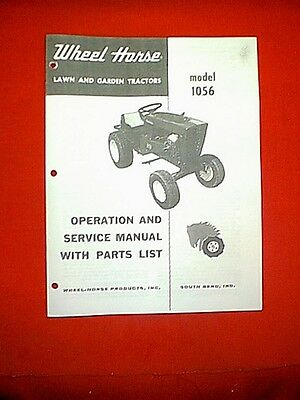 Wheel Horse Tractor Model 1056 Owners With Parts List Manual