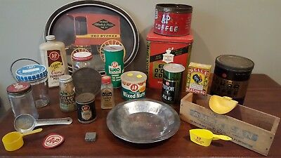 A&P Ann Page Vintage Tins Jars Coffee and MORE! VINTAGE! 30+ Pieces