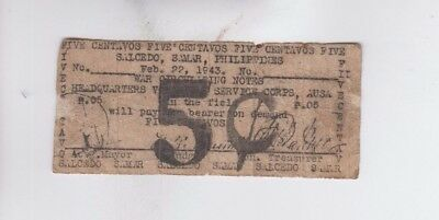 Philippines Paper Money one old note  vg stain