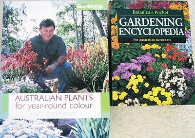 GARDENING ENCYOCLOPEDIA + AUSTRALAIN PLANTS FOR YEAR ROUND COLOUR  Angus Stewart