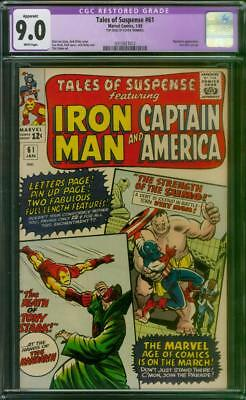 Tales Of Suspense # 61 Cgc 9.0 Vf/ Nm  White Pages  1965 Restored