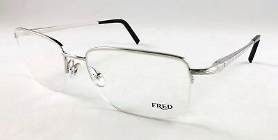 FRED 8430 EYEGLASSES Rimless Frames Color 006 Platinum Authentic New ... 6f274e6e236a