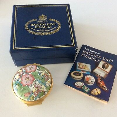 Halcyon Days English Enamel Flower Basket Flowers In Box With Story Book