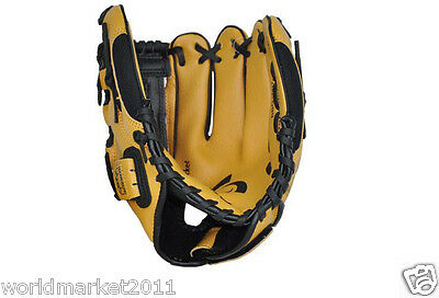 Sporting Goods PVC Material 10 Inches Wear-Resisting Baseball Glove Brown&$