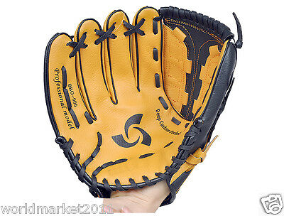 Sporting Goods PVC Material 12.5 Inches Wear-Resisting Baseball Glove Brown&$