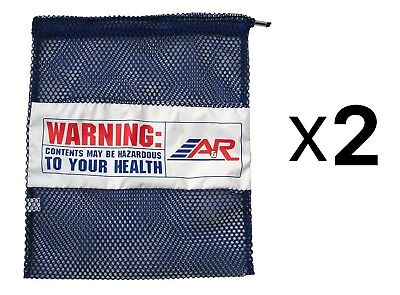 A&R Heavy Duty Pro Ice Hockey Mesh Laundry Bag Durable For Sports Gear (2-Pack)