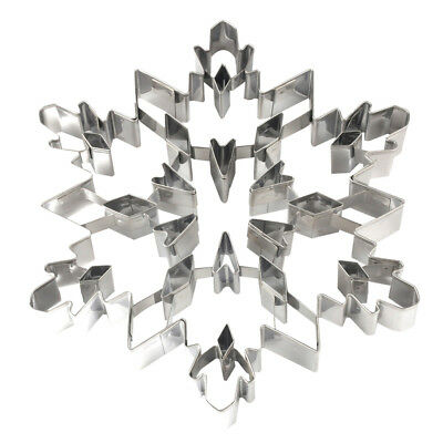 Kitchen Steel 3D Xmas Snowflake Cookie Cutter Cake Biscuit Mold Large Gift 1PC