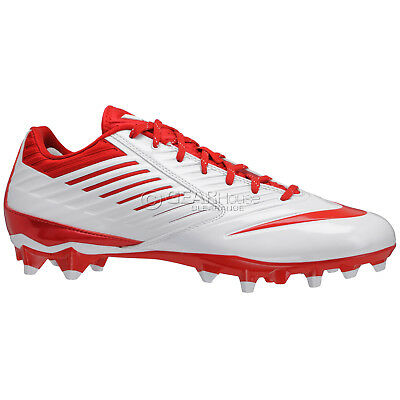 NEW Nike Vapor Speed Low TD LAX Mens Lacrosse Cleats Football White Red : 11.5