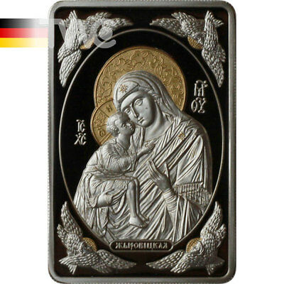 Belarus 2011 20 rub Icon of Most Holy Theotokos of Zhirovichy Proof Silver Coin