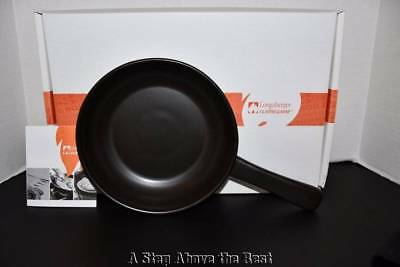 "Longaberger Flameware 8"" Skillet in Ebony #32232150 NEW"