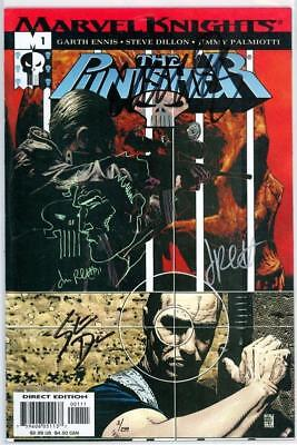 Punisher #1 Dynamic Forces Signed Remarked Sketch Dillon Palmiotti Coa 3 Netflix