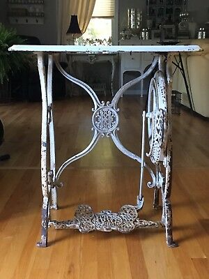 Rare Antique Cast Iron A.B. HOWE Sewing Machine Co. Treadle Sewing Machine Base
