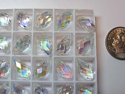 Swarovski Crystal Pendants/Beads- #6010- 13x6.5mm- Transmission- 72 Pieces-Rare