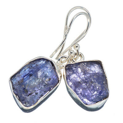 "Tanzanite 925 Sterling Silver Earrings 1 1/4"" Ana Co Jewelry E347383F"