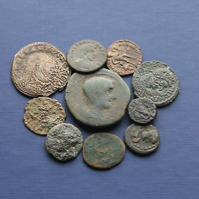 Group Of 10 Bronze Roman Coins Good Research Group